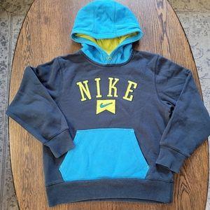 Nike blue neon Pullover hoodie Size boys Medium